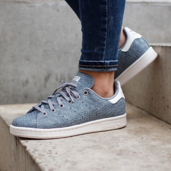 Adidas Stan Smith Gray Suede Sneakers